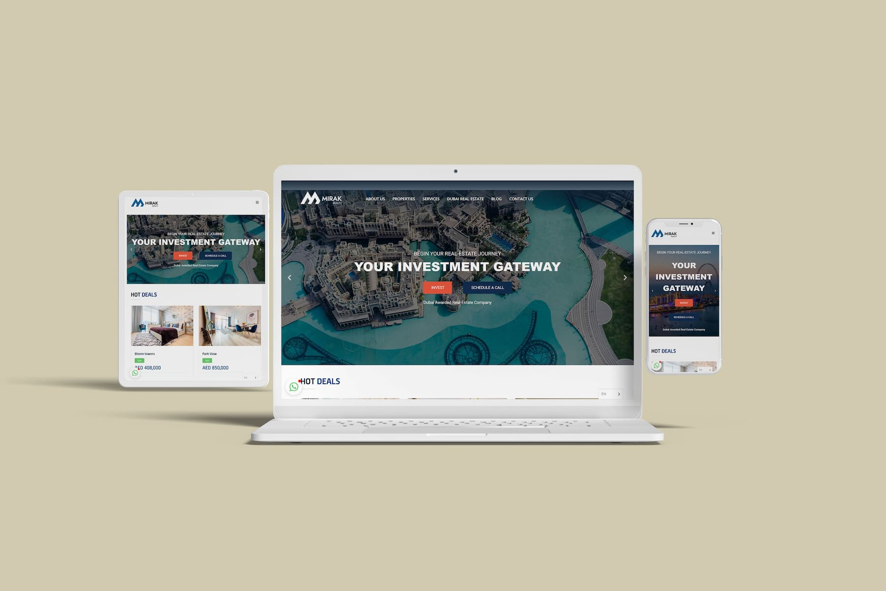 Real Estate Website in Dubai