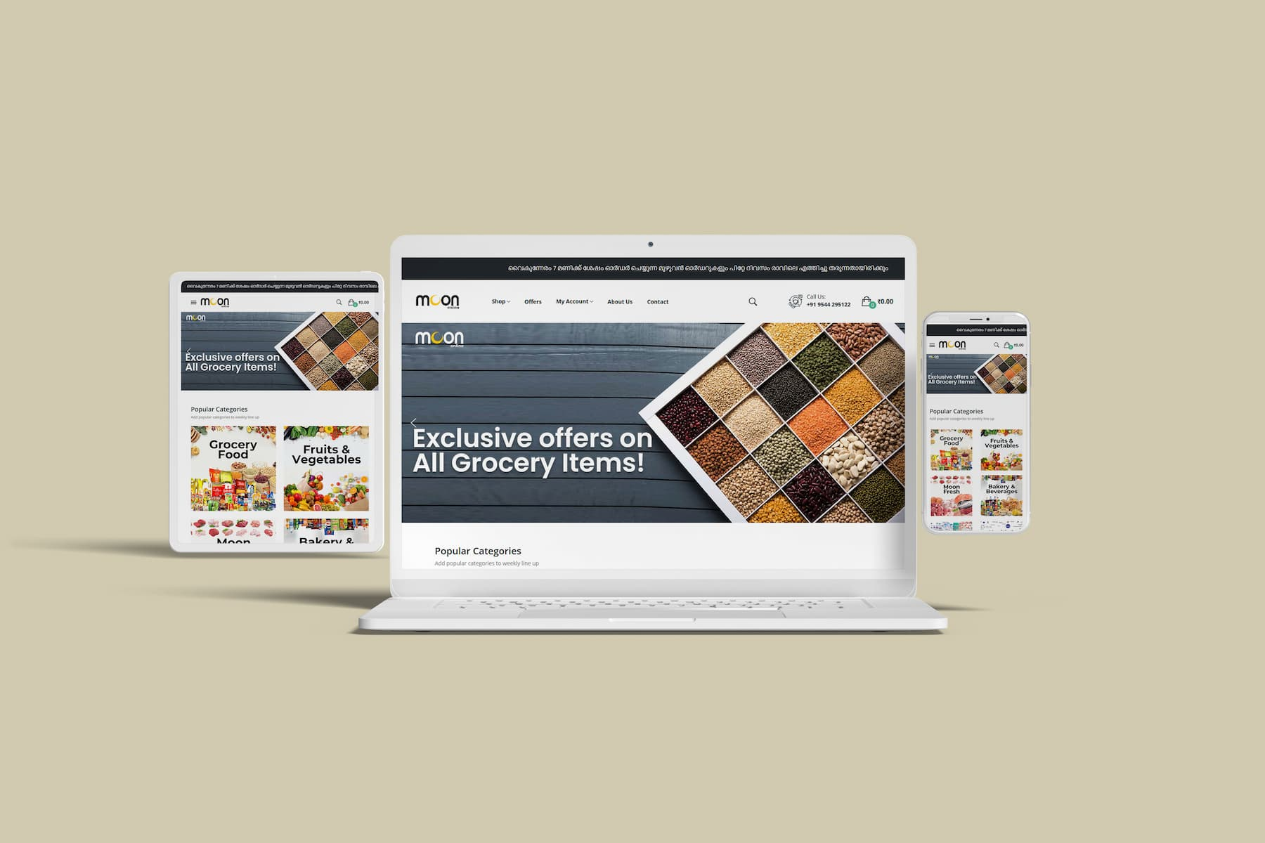 Grocery Website in Kasaragod
